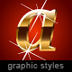 Illustrator's graphic styles. Golden. Beveled. - GraphicRiver Item for Sale