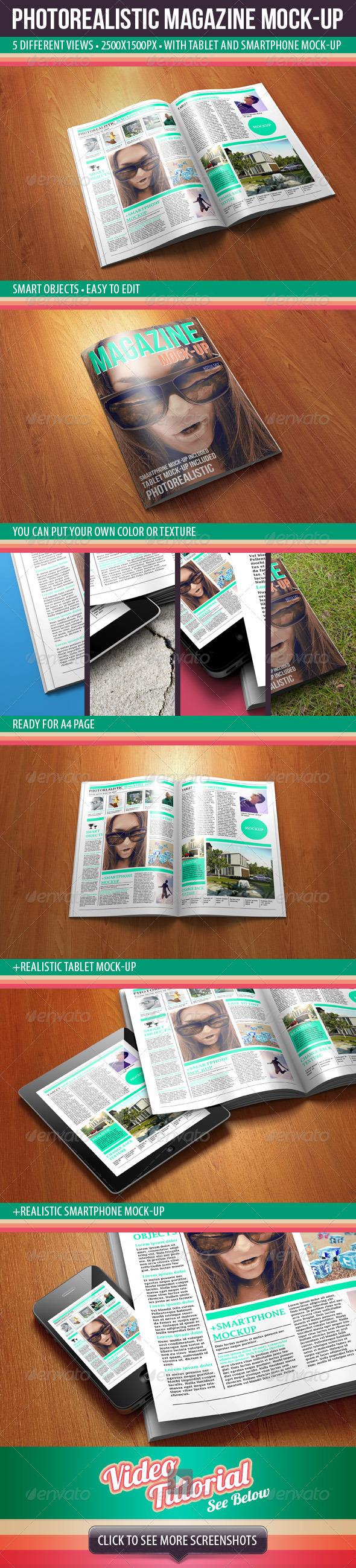 GraphicRiver Photorealistic Magazine Mock-up 2639083