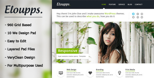 ThemeForest Eloupps Agency Corporate Business Theme 2639711