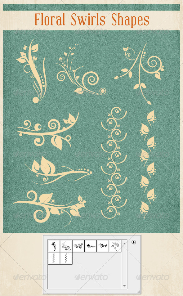 GraphicRiver Floral Swirl Shapes 2640167