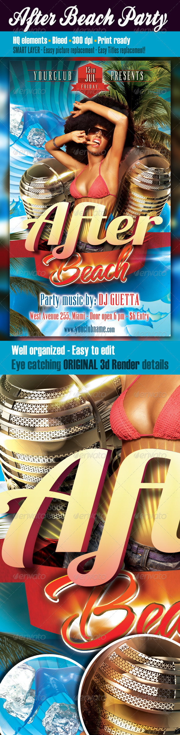 After Beach Party Flyer - Clubs & Parties Events