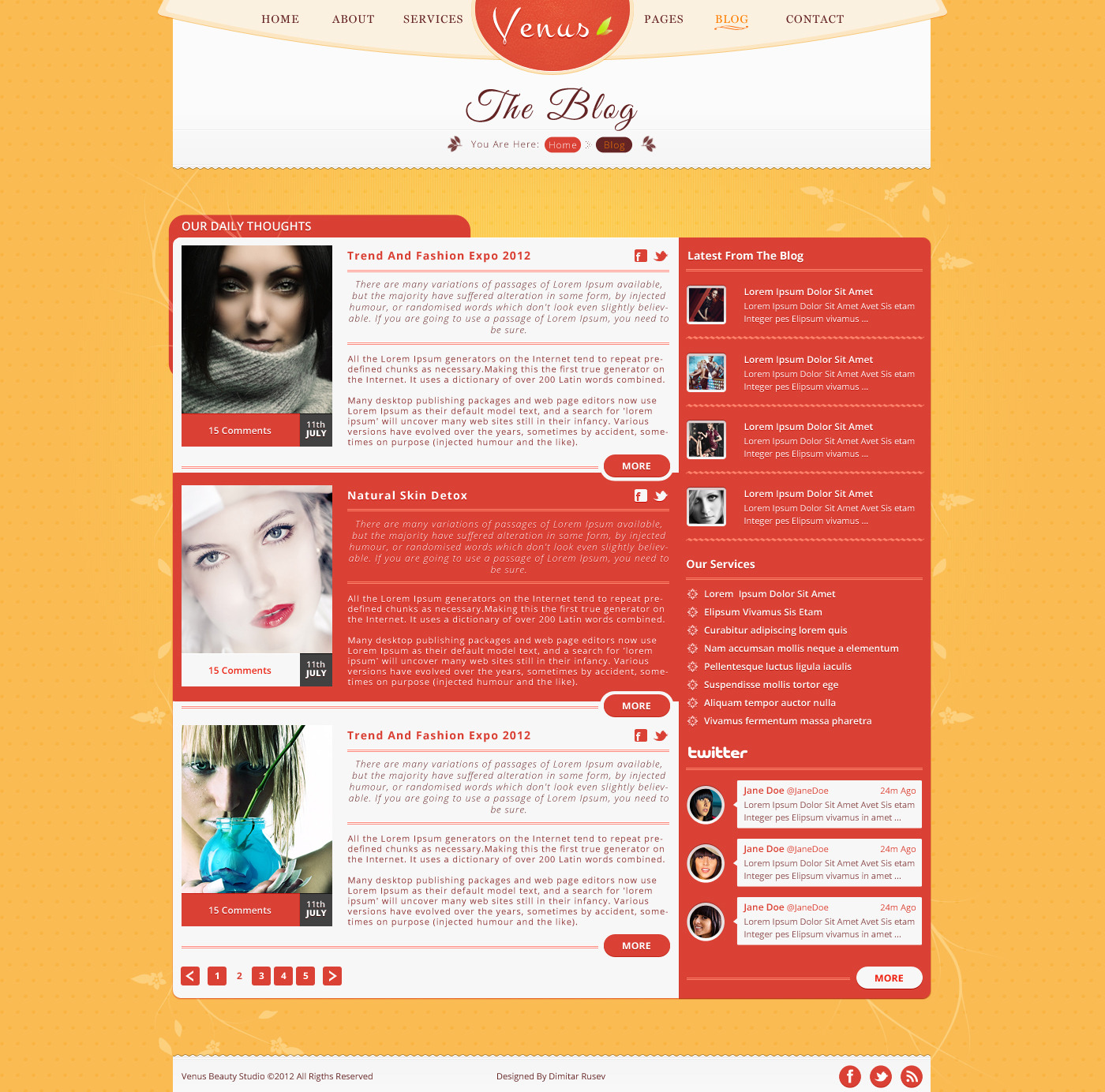 Venus - Beauty Center PSD Template