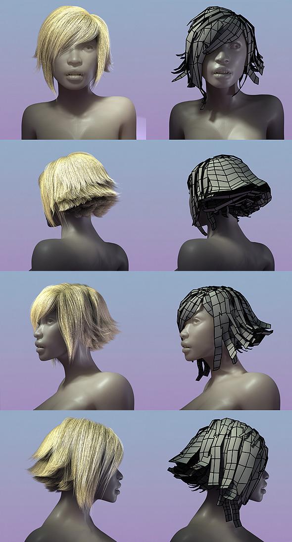 3DOcean Female Hair Style 002 294010