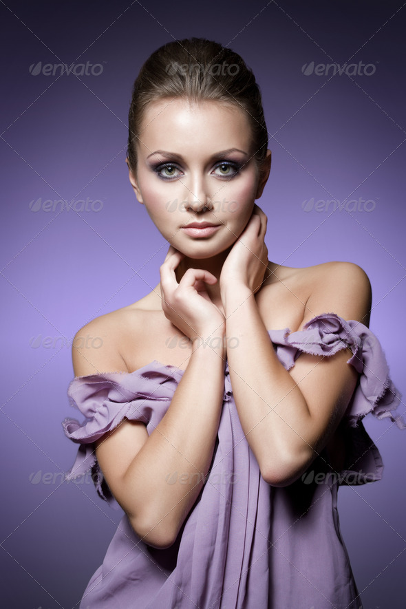 violet beauty - Stock Photo - Images
