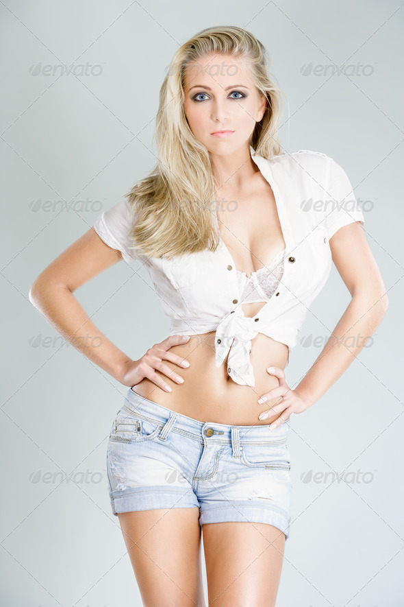 sexy blonde posing - Stock Photo - Images