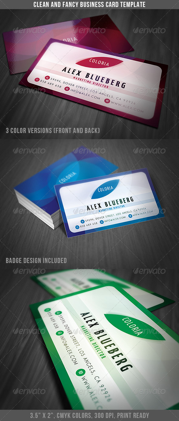 Clean and Fancy Business Card - Creative Business Cards