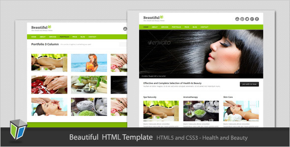 Beautiful - Responsive Beauty HTML Template