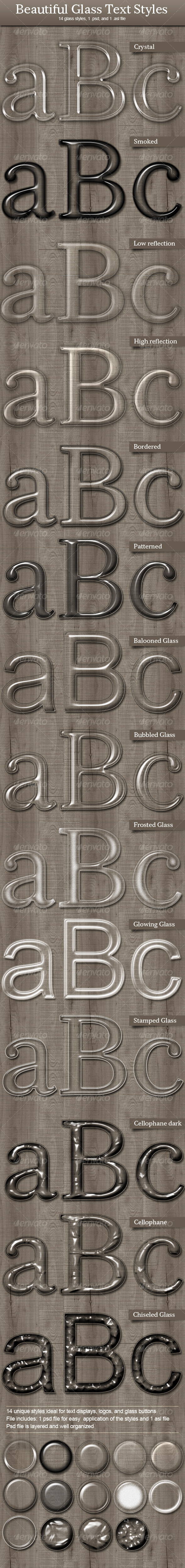 GraphicRiver Beautiful Glass Text Styles 95687