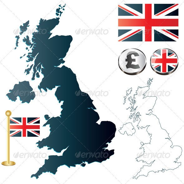 GraphicRiver United Kingdom map 2642754