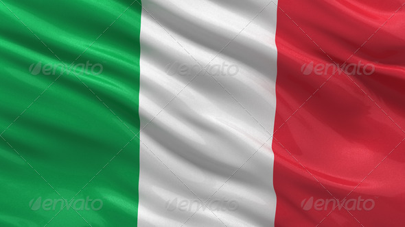 Flag of Italy - Stock Photo - Images