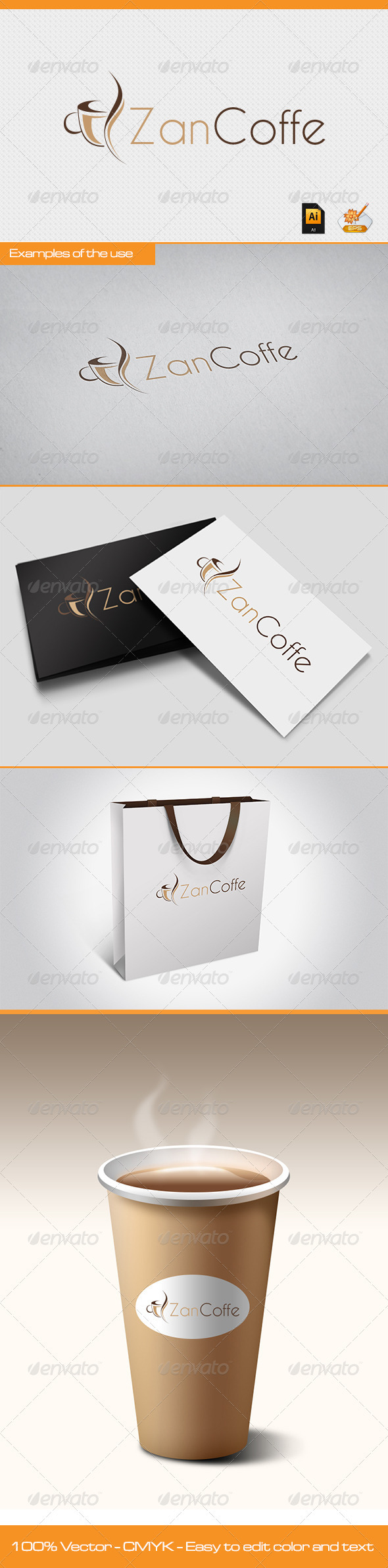 GraphicRiver Zan Coffe Logo Template 2634828