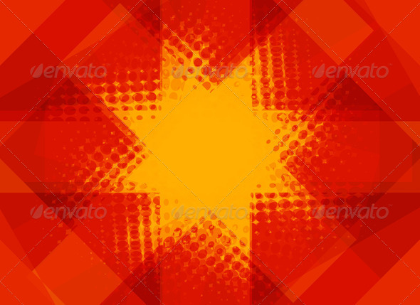 Red and yellow halftone Christmas star - Stock Photo - Images