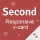 Second Responsive V-card Template - ThemeForest Item for Sale