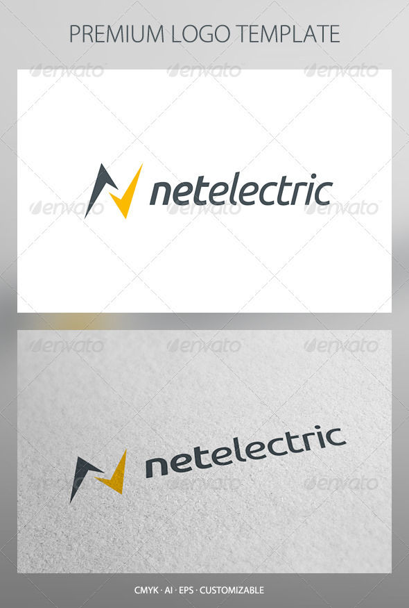 Net Electric Logo Template - Letters Logo Templates