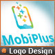 Cellular Phone Application Mobile Plus Logo Design - GraphicRiver Item for Sale