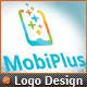 Cellular Phone Application Mobile Plus Logo Design - GraphicRiver Item for Sale