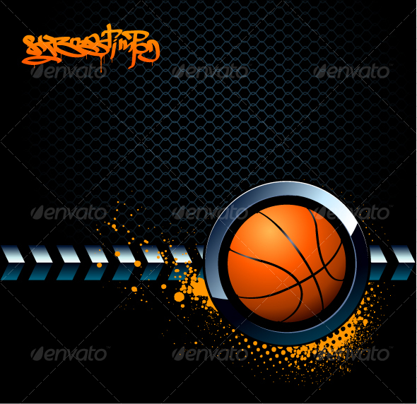 GraphicRiver Basketball Grunge Background 95980
