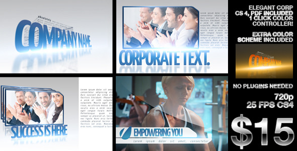After Effects Project - VideoHive Clean Elegant Corp 2648684
