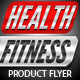 Health &amp;amp; Fitness Pro Flyer &amp;amp; Business Card PSD - GraphicRiver Item for Sale