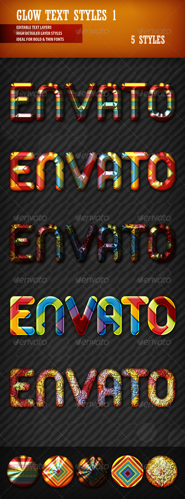 Glow Text Styles 1 - Text Effects Styles