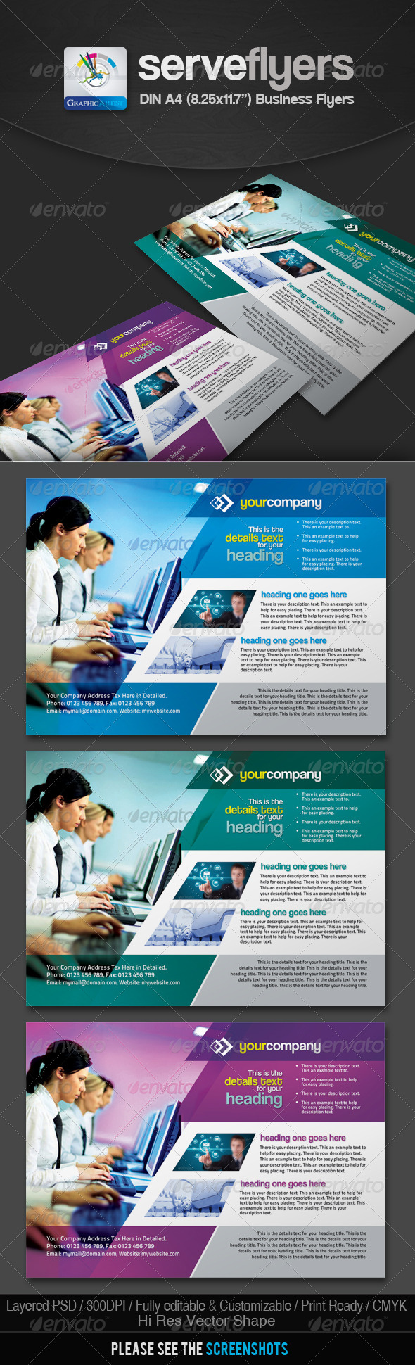 Serv Multipurpose Business Flyers - Corporate Flyers