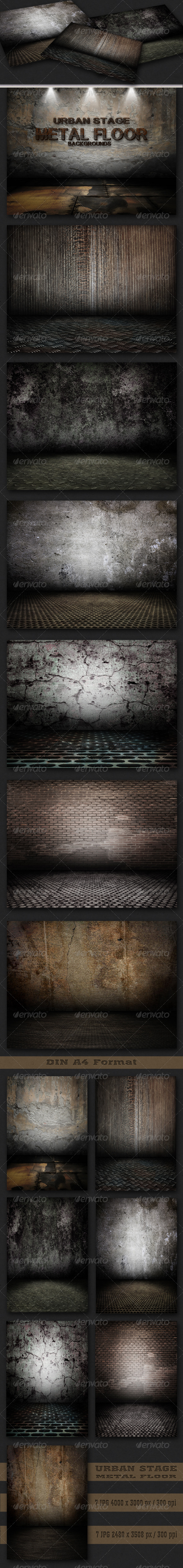 GraphicRiver Urban Stage Metal Floor Set 2652284