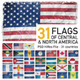 Central & North America Flags (31 Countries) - GraphicRiver Item for Sale