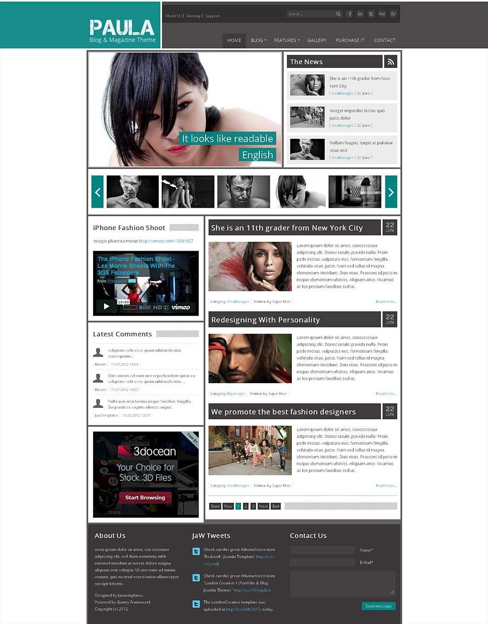 Top 10 Premium Joomla 2.5 Templates 2013 – BlogofTheWorld