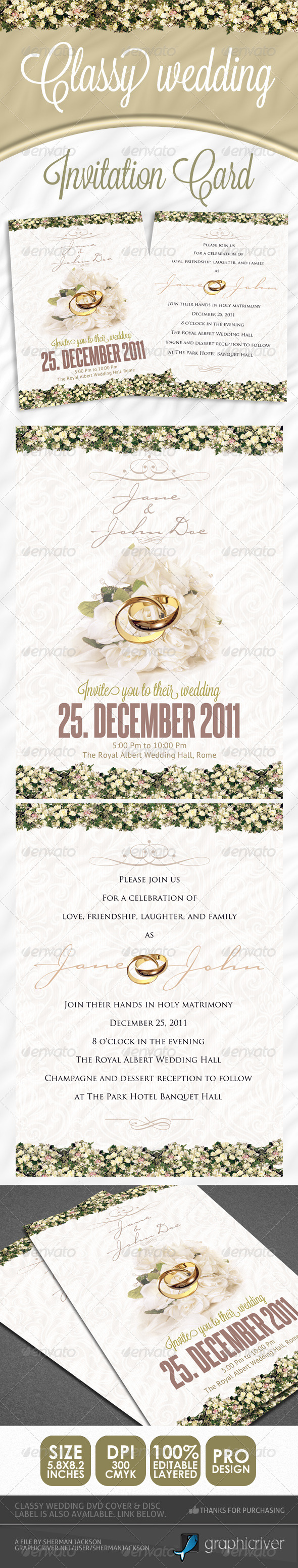 Classy Wedding Invitations - Weddings Cards & Invites