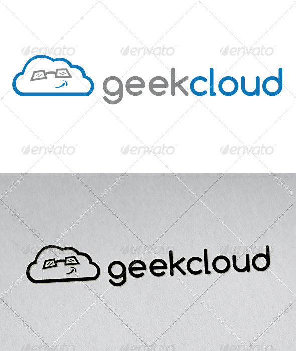 Geek Cloud Logo - Vector Abstract