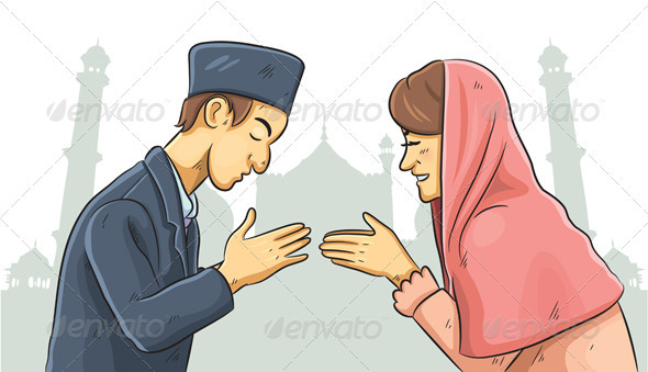 Ramadan Forgiveness - People Characters
