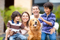 Happy family with a dog - PhotoDune Item for Sale