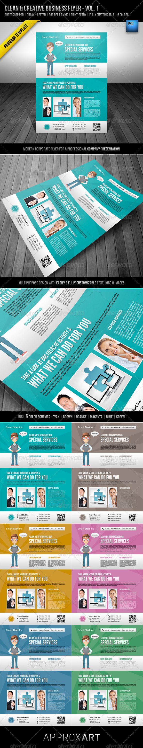 GraphicRiver Clean & Creative Business Flyer Vol 1 2653203