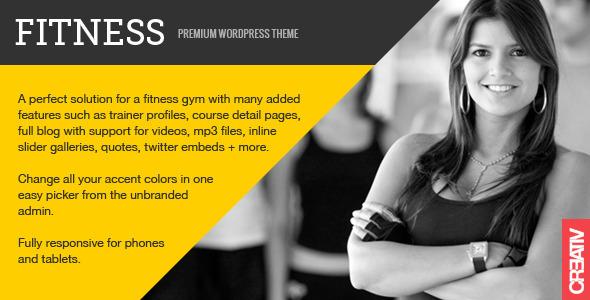 Fitness - Tema para WordPress Especializado en Gimnasios