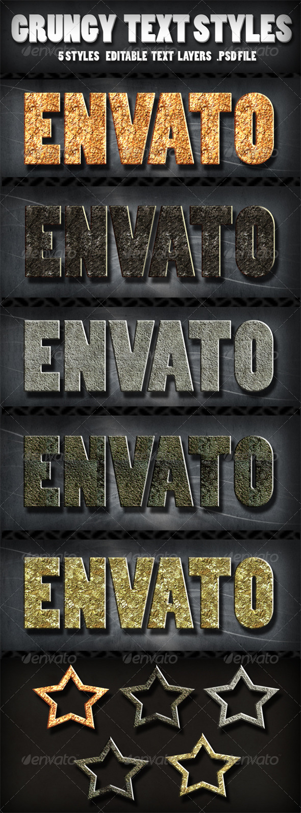 Grungy Text Styles  - Text Effects Actions
