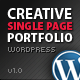 Creative WordPress Single Page Portfolio - ThemeForest Item for Sale