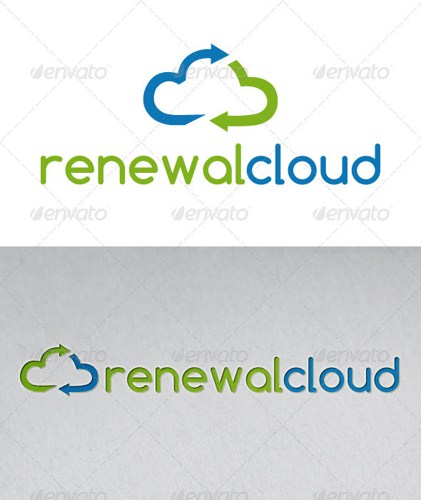 Renewable Cloud Logo - Nature Logo Templates