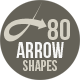 80 Arrow Photoshop Shapes - GraphicRiver Item for Sale