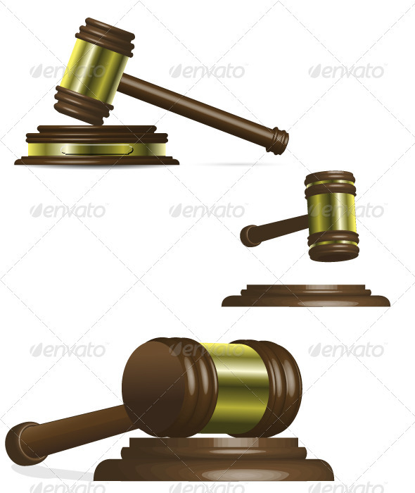 Gavel - Objects Vectors