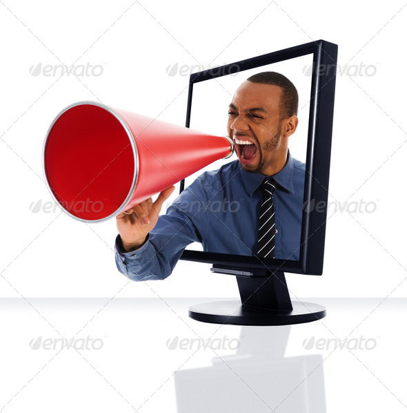 Stock Photo - PhotoDune Monitor Megaphone 295308