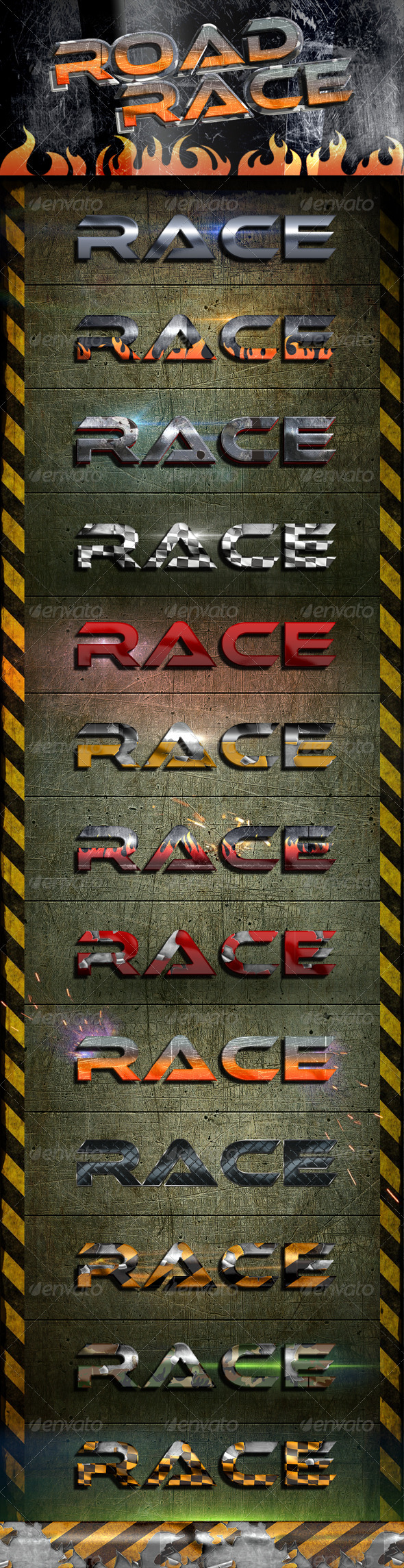 Road Race Styles - Text Effects Styles