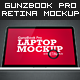 GunzBook Pro Retina Laptop Mockup - GraphicRiver Item for Sale