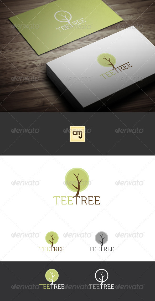 Tee Tree Logo Template - Nature Logo Templates