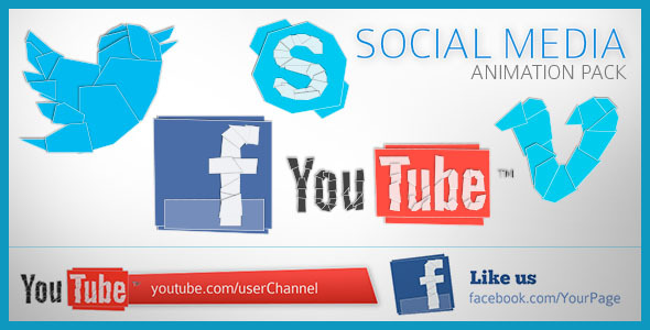 After Effects Project - VideoHive Social Media Animation Pack 2658745