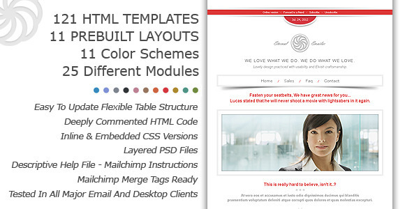 Eternal Emailer HTML Email Template - Email Templates Marketing