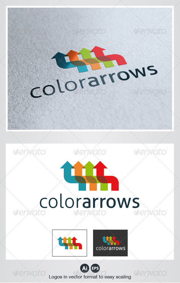 Color Arrows Logo - Symbols Logo Templates
