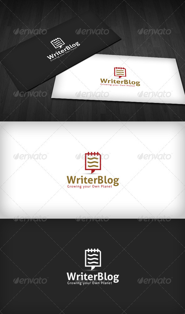 Writer Blog Logo - Symbols Logo Templates