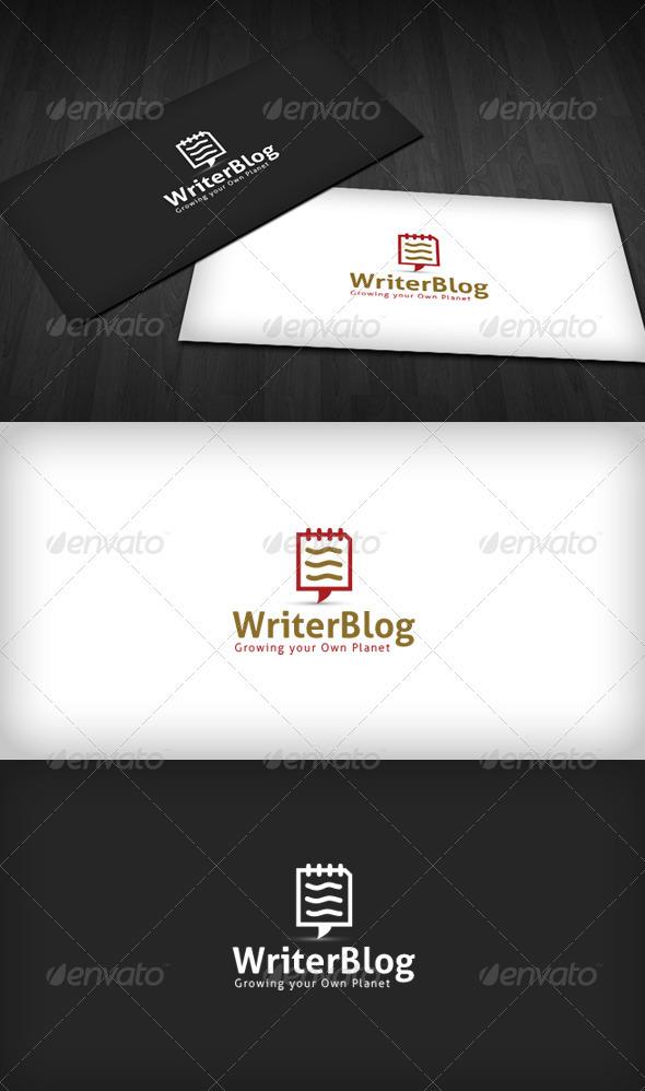GraphicRiver Writer Blog Logo 2660718