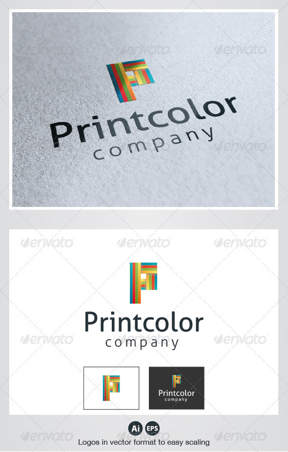 Print Color Logo - Letters Logo Templates