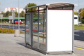 Blank billboard on bus stop - PhotoDune Item for Sale